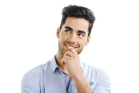 Man smiling while thinking about dental crowns in Mesquite