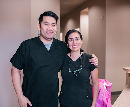 Mesquite dentists Victoria DeLeon DDS and Dr. Lam
